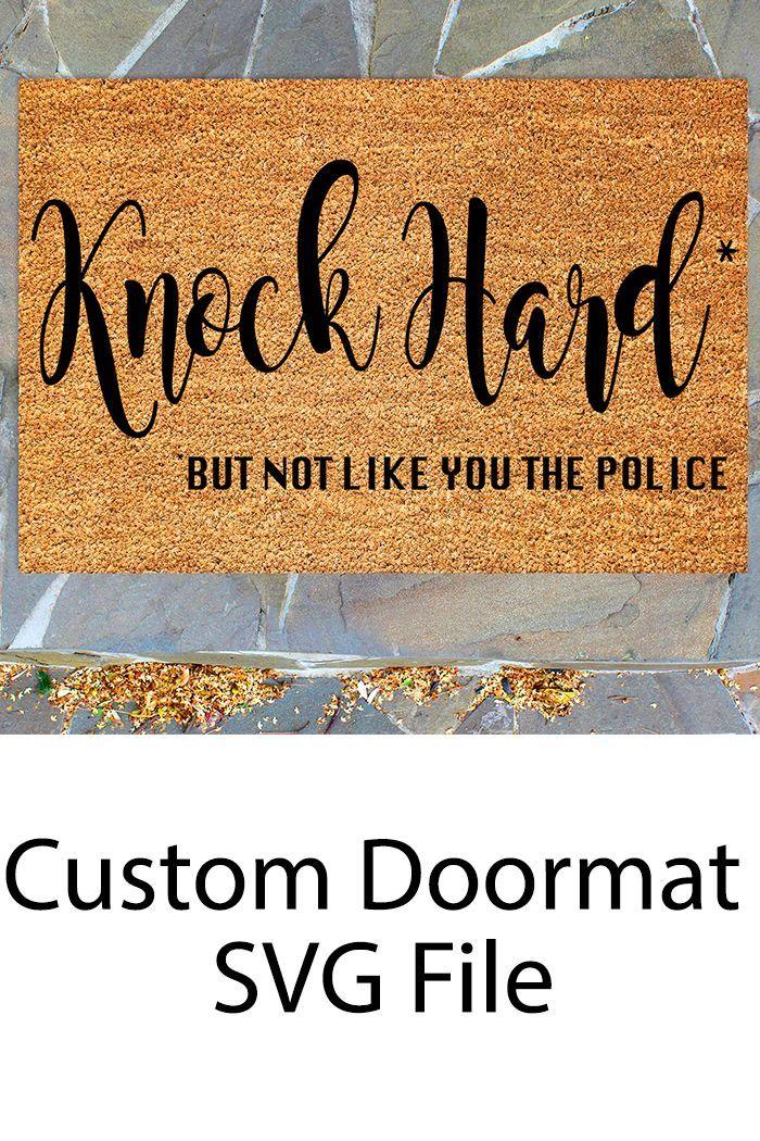 How To Make A Custom Welcome Mat Using Your Cricut By Pink Door Mat Diy Outdoor Mat Cricut Stencils