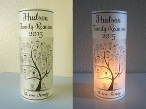 10 personalized family reunion centerpiece table decoration luminaries