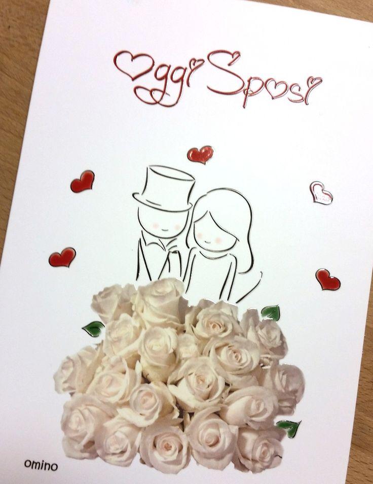 Un bellissimo bouquet di rose bianche per festeggiare un amore puro e sincero... W gli sposi!