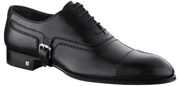 """Louis Vuitton Baron Richelieu in waxed calf leather. In finest waxed calf leather, which will acquire a beautiful patina over time, this elegant shoe features original details, including twisted leather piping and a """"belt"""" that buckles at the side YP0I1XWC"""