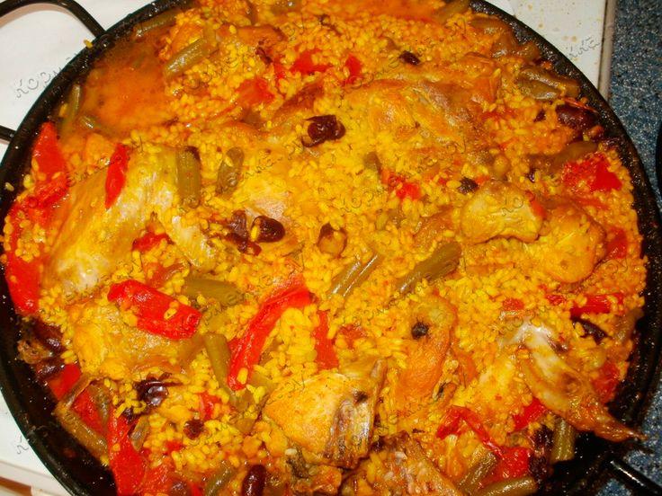 Рецепт Паэльи с курицей и овощами