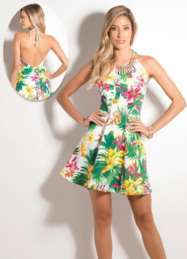 Vestido Frente Única Tropical - Posthaus