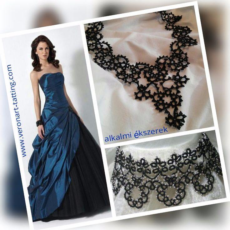 AMBROZIA gyöngyös hajócsipke nyaklánc / tatted beaded necklace :: VERONART tatting - hajócsipke - frivolitás