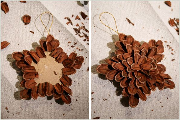 Stella con pigne - pinecone xmas star - Christmas decorations