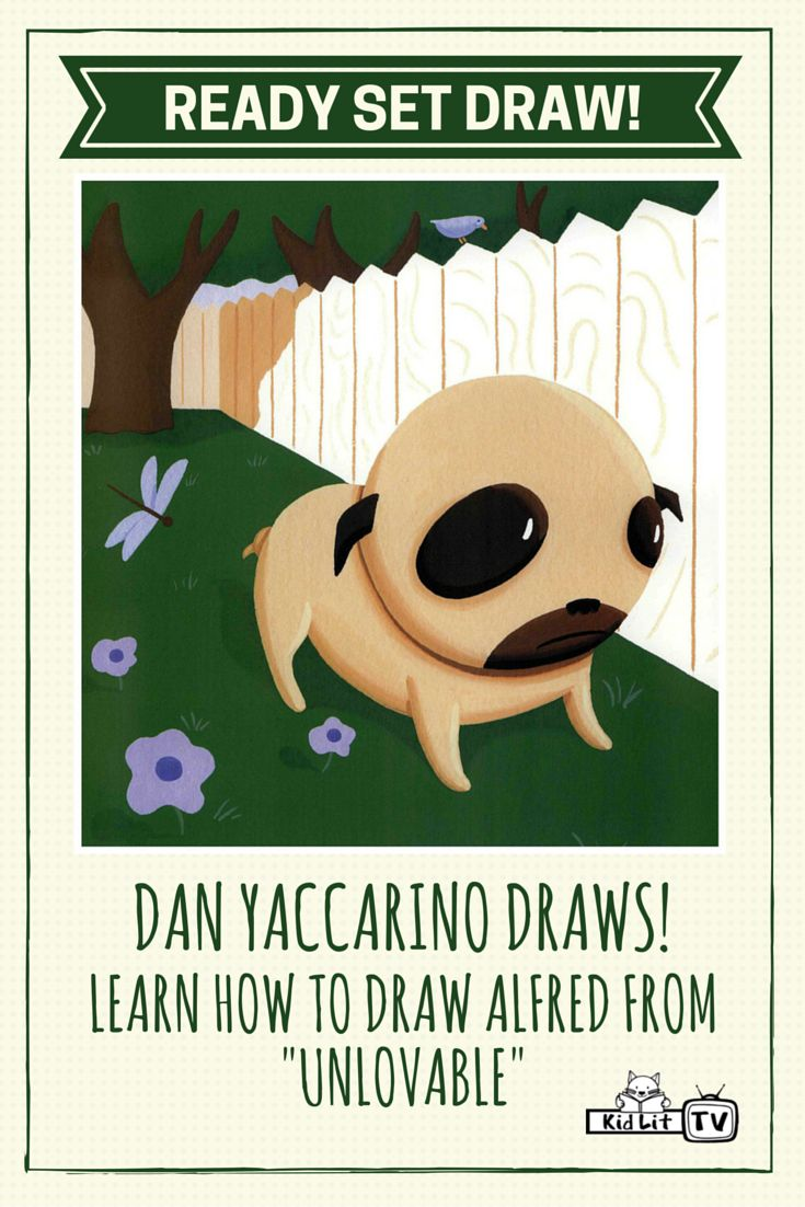 Watch the video Ready Set Draw from KidLitTV with featured author and illustrator Dan Yaccarino drawing his character Alfred from Unlovable!