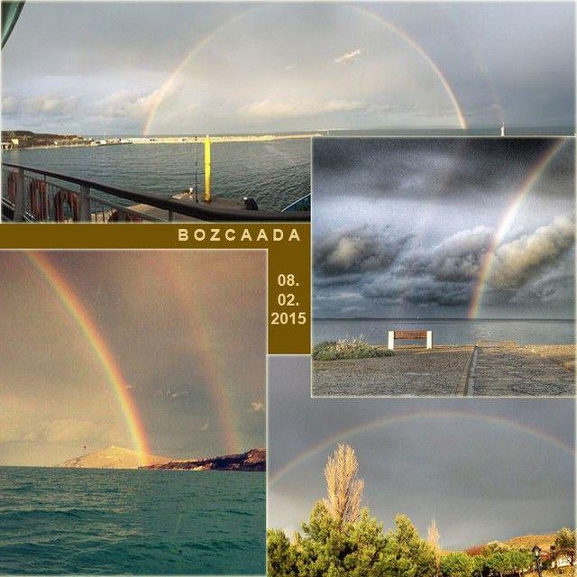 """"""".. ...... ..... Bugünkü olayımız: Gökkuşağı ..... #bozcaada #tenedos #gökkuşağı #rainbow #8şubat2015 @seymakupelii @ozgeberkit @mehmetbursali…"""""""