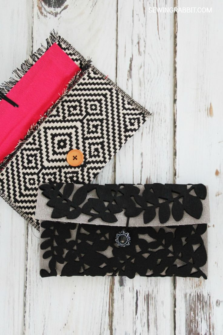 No Sew Placemat Clutch DIY