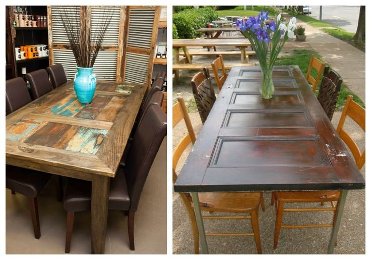 02 reciclaje de puertas mesas muebles reciclados for Reciclado de puertas
