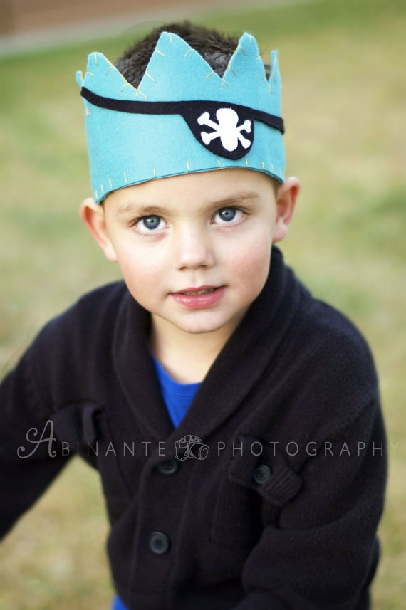 Felt Pirate Crown by LilSugarBowtique on Etsy, $28.00