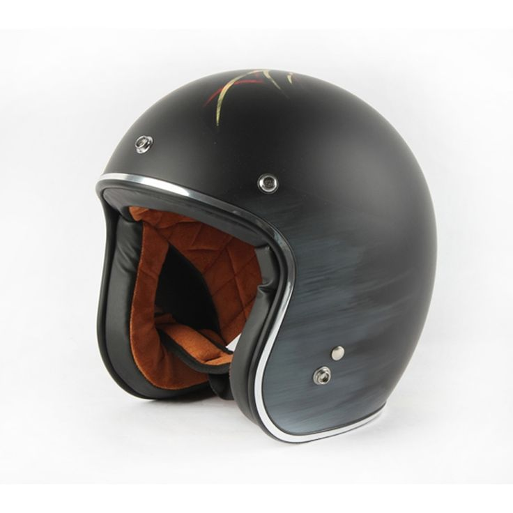 78.00$  Watch now - http://alio6l.worldwells.pw/go.php?t=32702191541 - Cheap Women and Men Vintage Black Open Face 3/4 Motorcycle Helmets With Free Goggles Retro Scooter Helmets casco moto XXL DOT