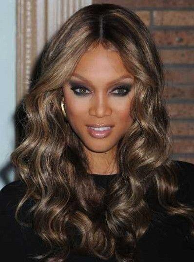 color tinte de cabello para piel morena Más