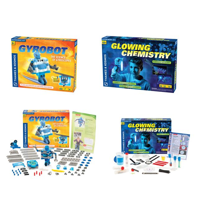 In this Gyrobot and Glowing Chemistry Activity Pack you get two of our best selling maker kits for a winter only special price.