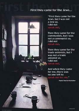 FIRST THEY CAME FOR THE JEWS ... POSTER by http://www.amazon.com/dp/B0052DWQPW/ref=cm_sw_r_pi_dp_8b.crb0ADHMWX