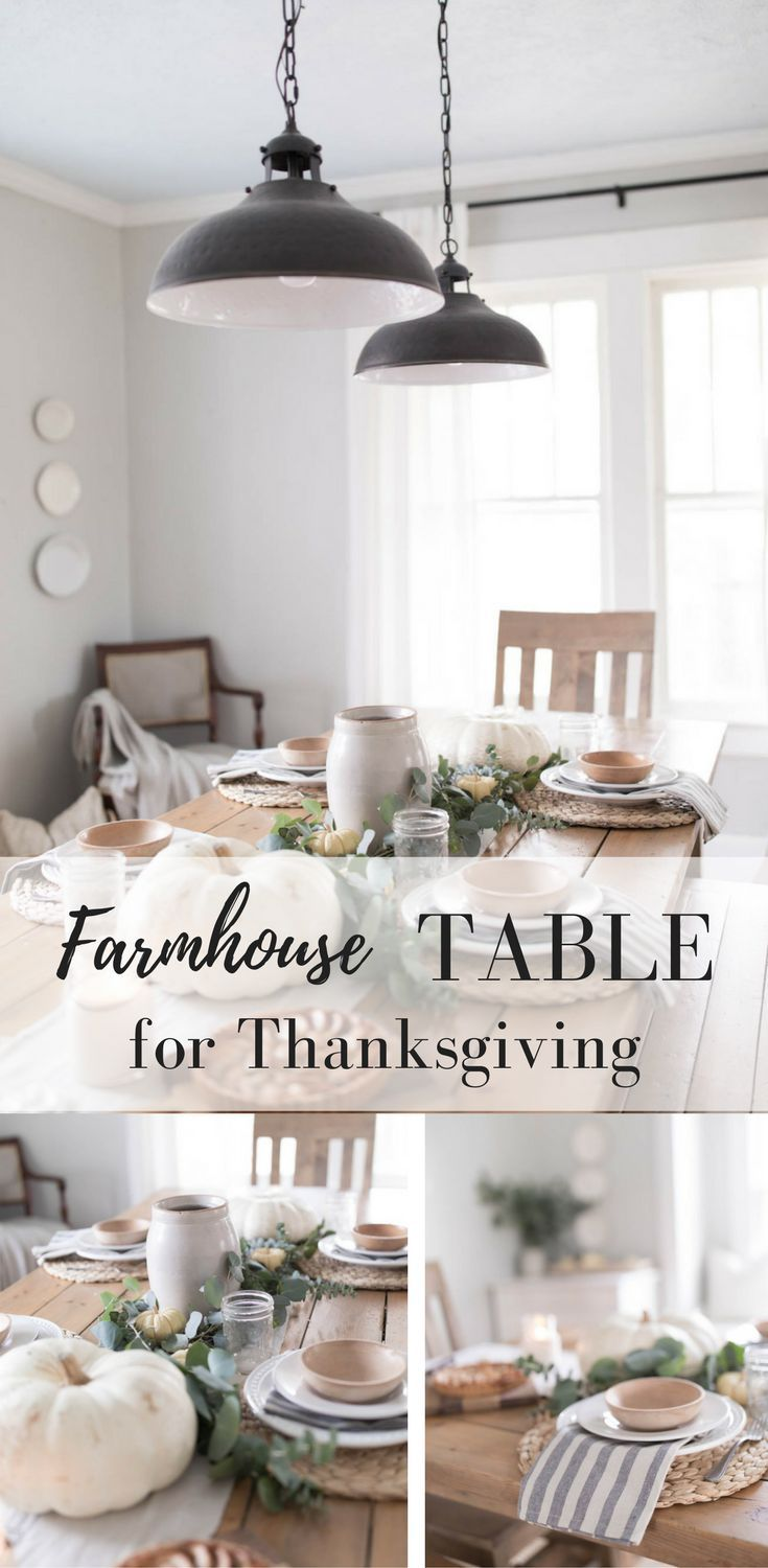 Farmhouse Thanksgiving Table Decor Dining Room Table Decor Kitchen Table Decor Farmhouse Dining Room Table