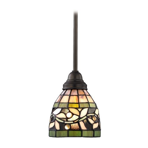 Design classics lighting tiffany mini pendant with vine design 1613 tb destination lighting