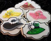 Kentucky derby party, ladies Derby Hats, Kentucky derby cookies, red hat society, custom cookies, derby hat cookies, run for the roses