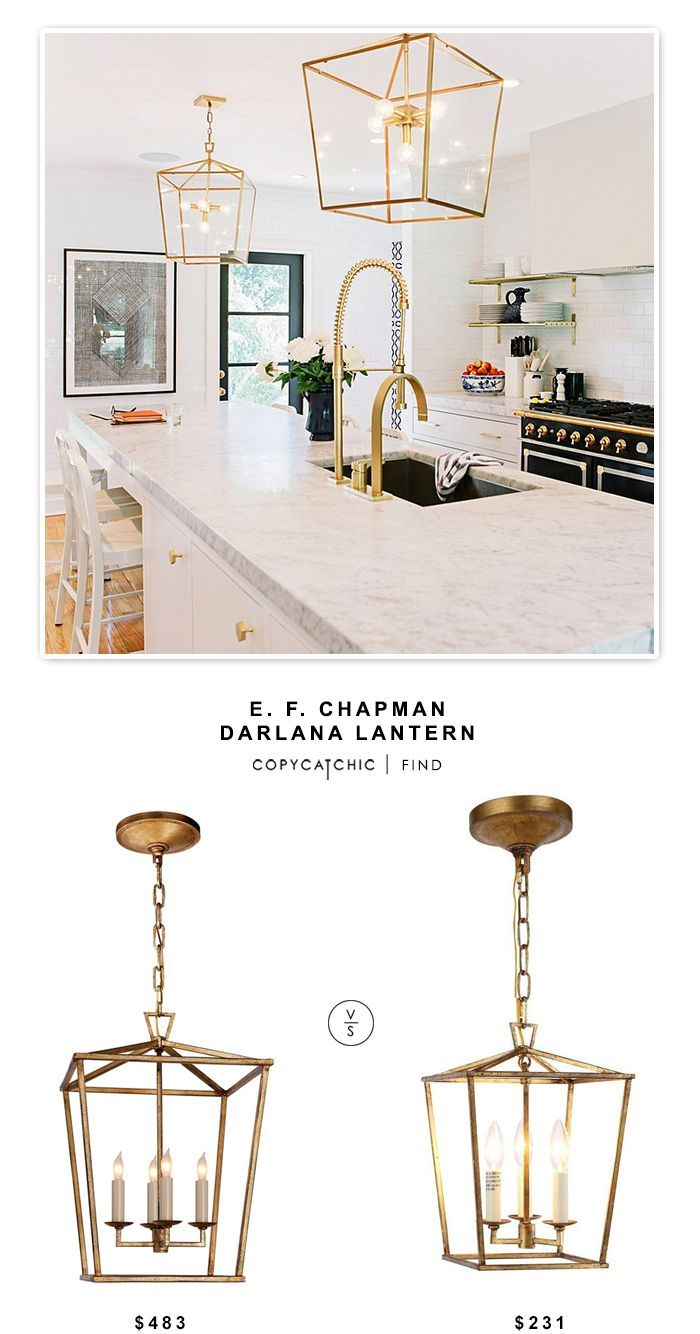 Circa Lighting E. F. Chapman Darlana Lantern $483 Vs @homedepot Denmark  Golden Iron Pendant $231