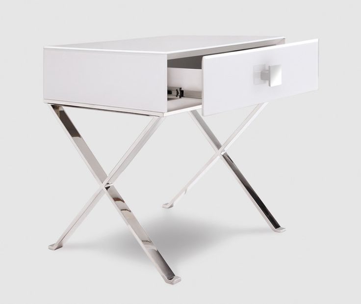 The Zurich Bedside features a glorious high gloss white glass encased top which…