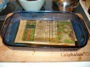 Newspaper bokashi using newspaper instead of bran