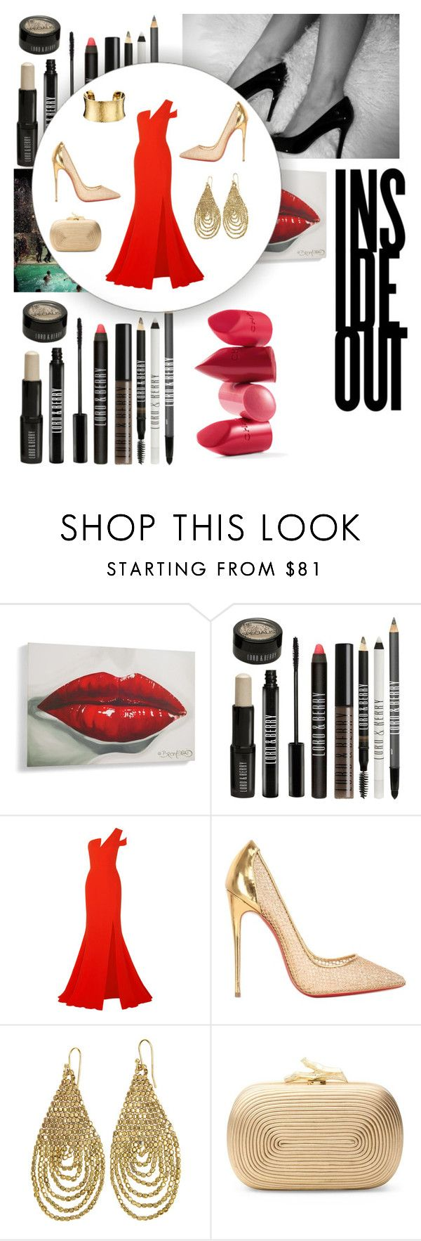 """Gold"" by marisilva-1 ❤ liked on Polyvore featuring Rossetto, Lord & Berry, Antonio Berardi, Christian Louboutin, Ellen Crawford Designs, Diane Von Furstenberg and Calvin Klein"
