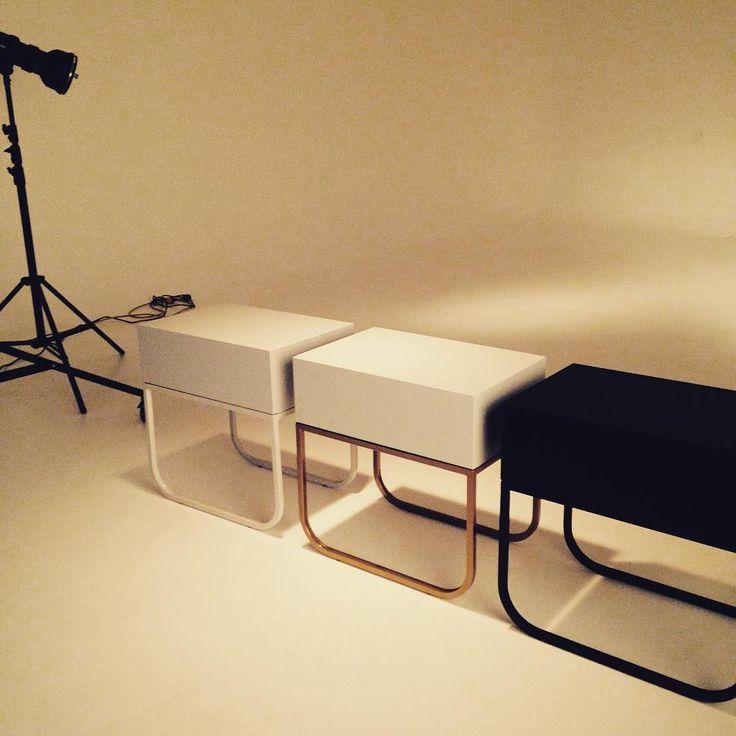 New York bedside tables in the spotlight with @mikebakerphotographer #graziaandco