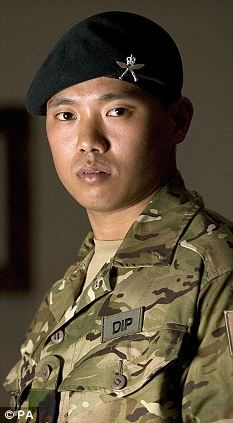 A Gurkha soldier who single-handedly fought off an attack on his base by up to 30 Taliban insurgents was been awarded the Conspicuous Gallantry Cross in 2011.    Acting Sergeant Dipprasad Pun, 31, exhausted all his ammunition & at one point had to use the tripod of his machine gun to beat away a militant climbing the walls of the compound.    The soldier fired more than 400 rnds, launched 17 grenades and detonated a mine to thwart the Taliban assault on his checkpoint Helmand Province.