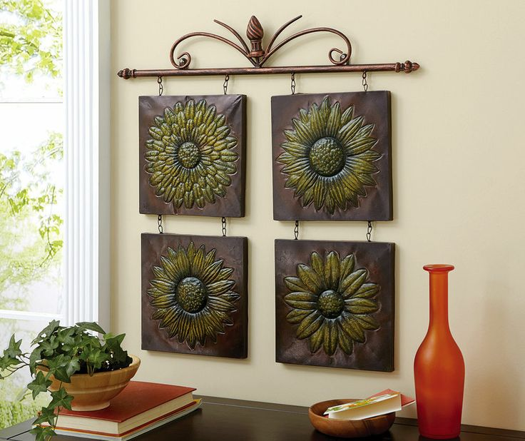 Antique sunflower 3d metal wall decor home decor