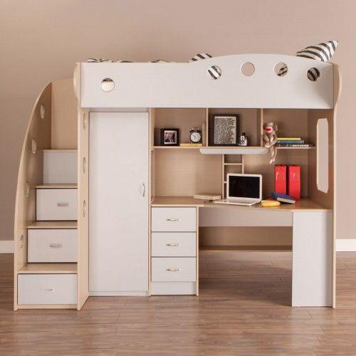 base de lit loft nika gris rable cuartos ni os pinterest base de lit erable et gris. Black Bedroom Furniture Sets. Home Design Ideas
