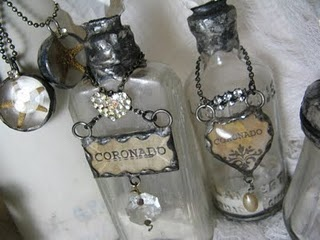 Altered bottles, I'm going to have to try this...I have a few bottles!