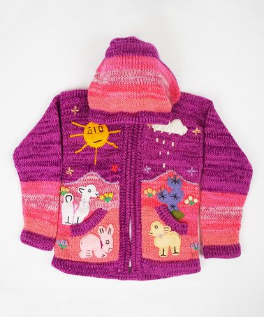 Another great find on #zulily! Purple & Pink Stripe Zip-Up Hoodie - Infant & Toddler #zulilyfinds