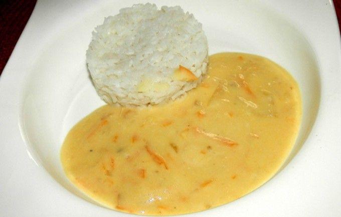 Smetanová omáčka s rýží