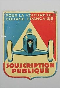 badge of the lotterie pour la voiture de course francais souscription publique in 1935. Black Bedroom Furniture Sets. Home Design Ideas
