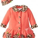 Bonnie-Baby-Girls-Infant-Coral-Fleece-with-Leopard-Trim-Coat-and-Hat-Set