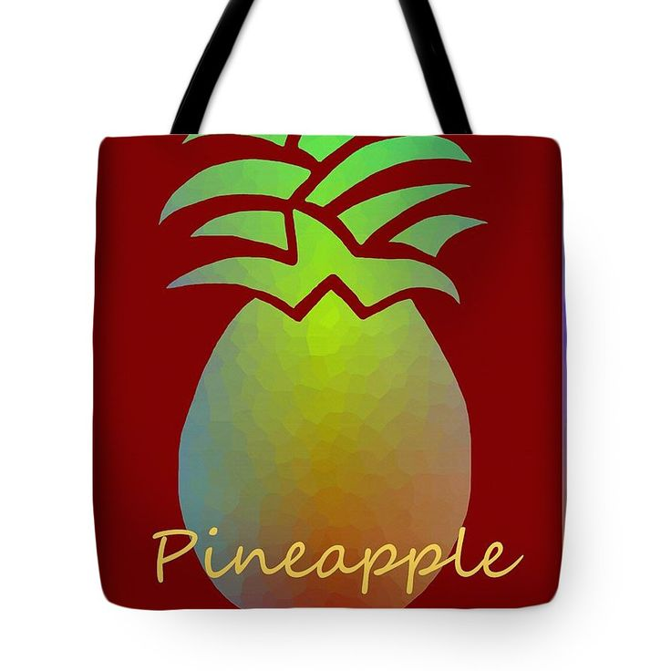 Pineapple Art On A Tote Bag