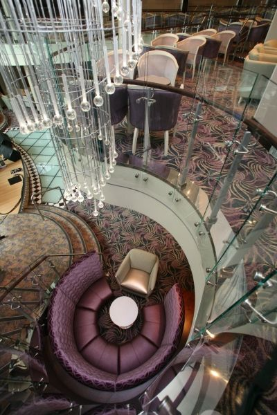 Allure Of The Seas - Dazzles Nightclub. My room is going to be right down the hall from here.