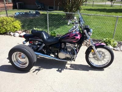 I converted my Kawasaki 500 to a trike, rides great, looks good, just an all around awesome ride...