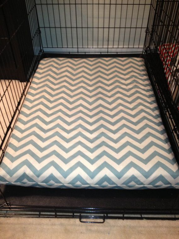 Blue & Natural Chevron Dog Bed Cover by foryourloveofdogs on Etsy, $24.00