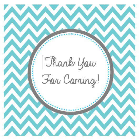 Turqouise Chevron Thank You For Coming Tag by AuntiesSweetLife, $5.00