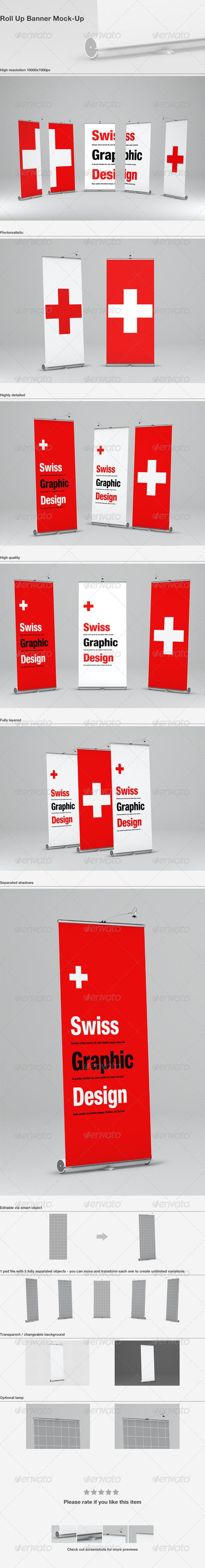 Roll Up Banner Mock-Up  #GraphicRiver        Roll Up Banner Mock-Up Features    1 Psd File (10000×7000px)  5 Different angles (65 degrees ,45 degrees, 0 degrees)  Banner dimensions – 100×220cm   Editable via smart object  Transparent / changeable background  High resolution 10000×7000px       Created: 21December12 GraphicsFilesIncluded: PhotoshopPSD HighResolution: Yes Layered: Yes MinimumAdobeCSVersion: CS4 PixelDimensions: 10000x7000 Tags: banner #display #elegant #mockup #mock-up #mockup…