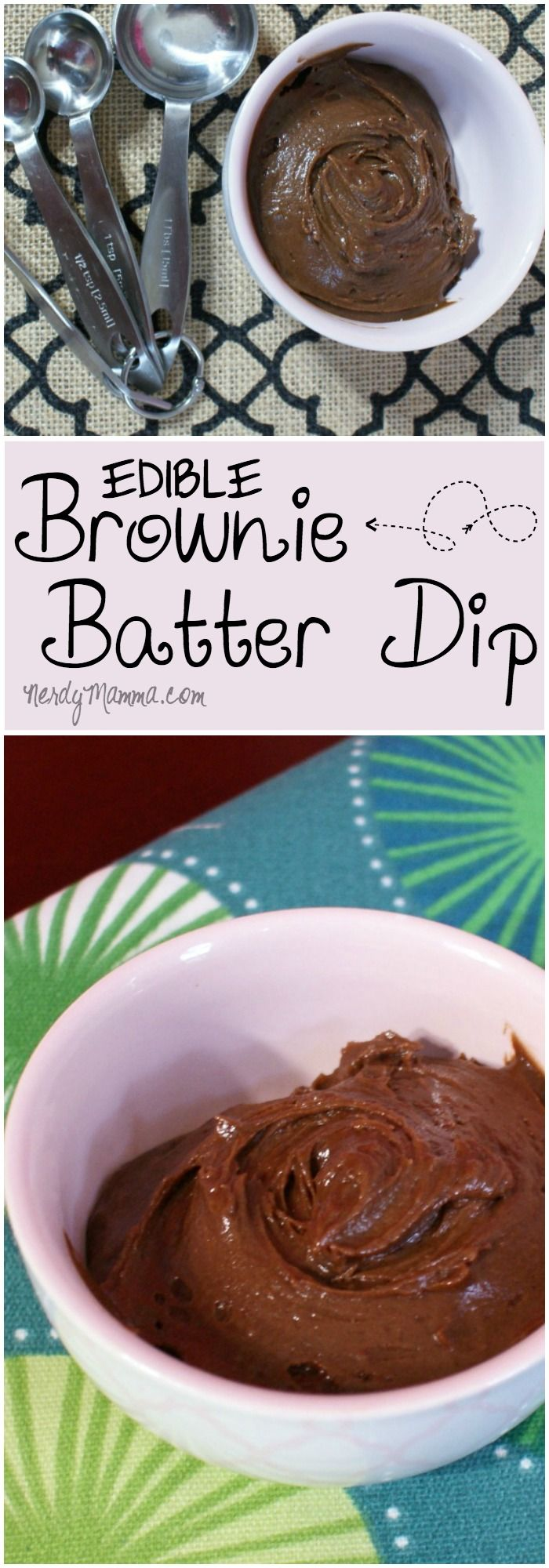 I've heard of edible cake batter, but this recipe for edible brownie batter is amazing. Gluten-free, eggless, dairy-free...it hits all the good places!