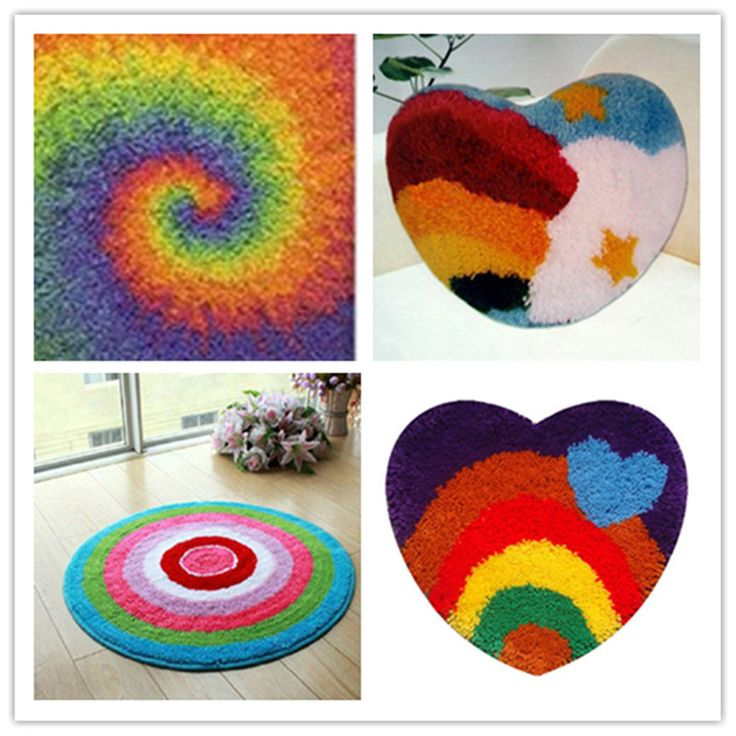 home d?cor on a budget USA shipping Latch Hook Kit Rug Cushion Pillow Mat DIY Craft Rainbow Cross Stitch Needlework Crocheting Rug Embroidery *** AliExpress Affiliate's buyable pin. Details on product can be viewed on www.aliexpress.com by clicking the image