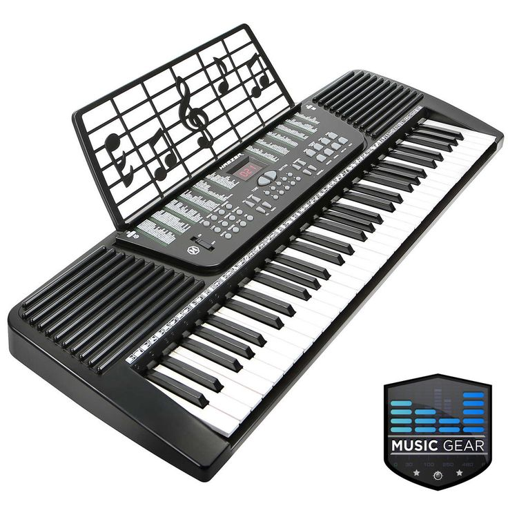 61 Key Electronic Music Electric Keyboard Piano - Black #LeadingLiving