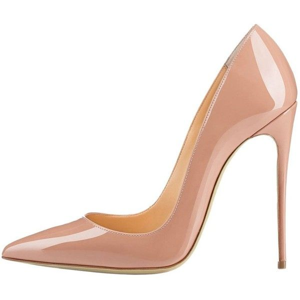 Amazon.com: EKS Women's Friees Nude Basic Solid Color Thin High Heels... ($60) ❤ liked on Polyvore featuring shoes, pumps, going out shoes, nude high heel shoes, nude high heel pumps, nude court shoes and party shoes