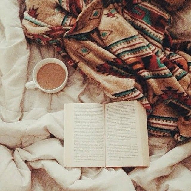Books, blankets and hot drinks #winter