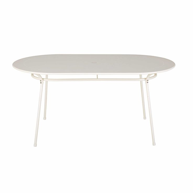 Lovely Gartentisch oval aus elfenbeinfarbenem Metall f r Personen Jetzt bestellen unter https