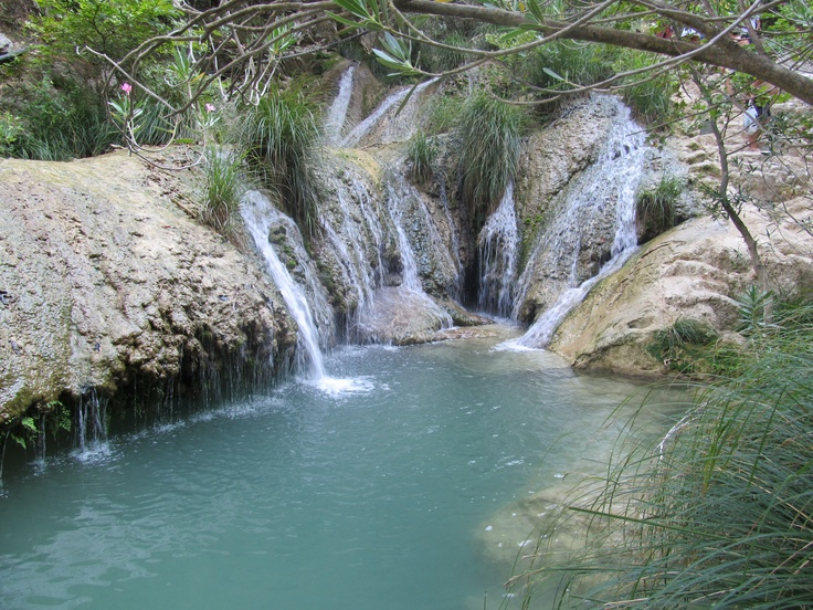 Poliliminio Waterfalls in Kazarma, Greece