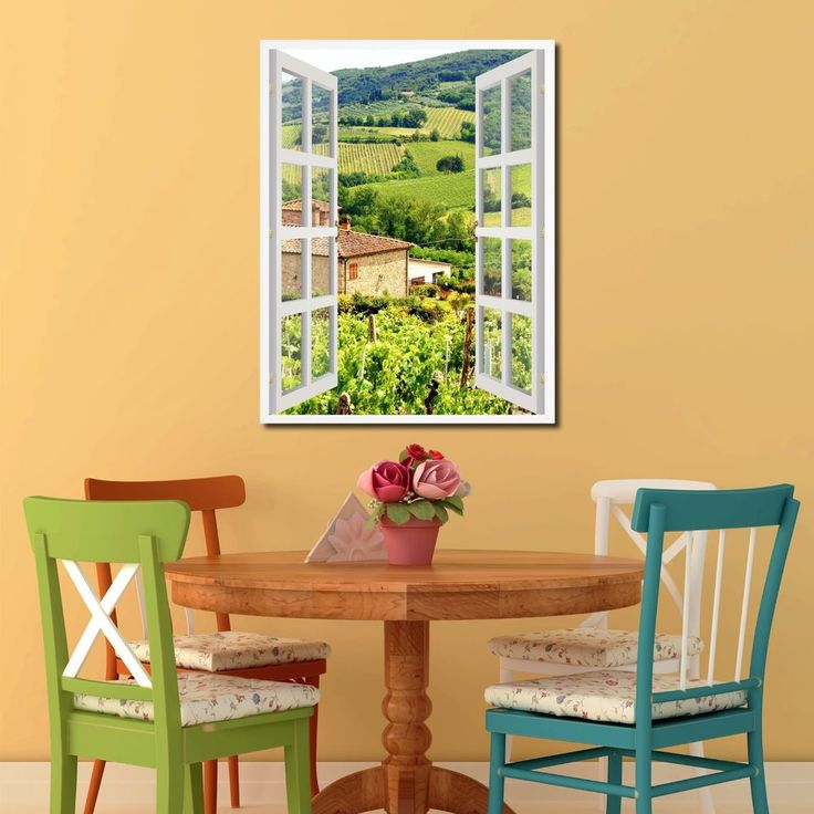 Art And Home Decor Part - 49: Vineyards Tuscany Italy French 3D Window Home Décor Gift Ideas 24035  #SpotColorArt #Vintage
