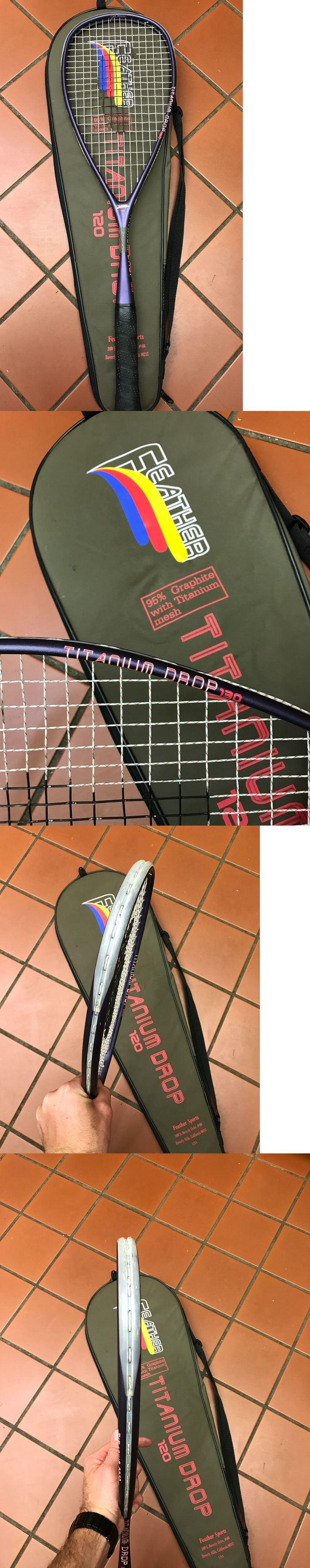 Squash 62166: Feather Titanium Drop 130 Squash Racket Racquet Excellent Cond. W Carrying Case -> BUY IT NOW ONLY: $69 on eBay!