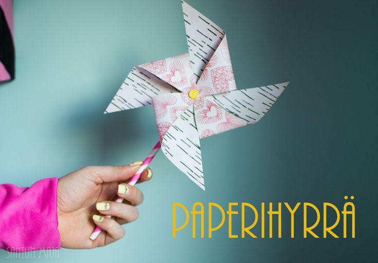 PAPERIHYRRÄ // Santun Maja -blog #papercrafting #craftideas