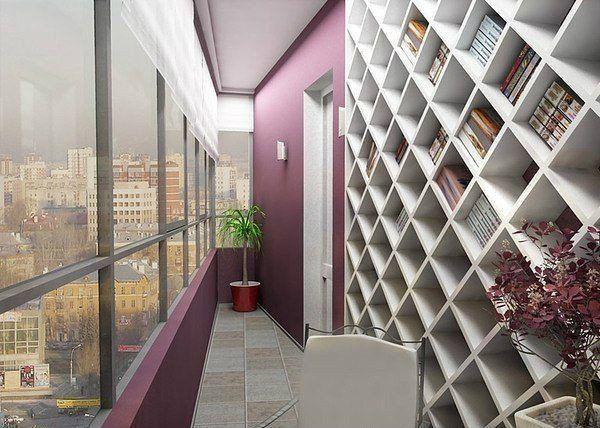 в комнате, неглубокие ниши, чтобы в глубину помещалась только одна книга. надо узкую, высокую - под потолок, в два вертикальных ряда.